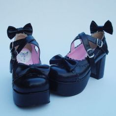Sweet Lolita Dolly Gothic butterfly Cork platform shoes Japan fashion US 5-11