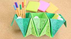 Accordion box origami: organizador de escritorio