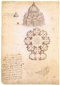 Leonardo Da Vinci plan Duomo of Pavia