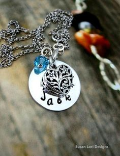 Charm necklace for mom