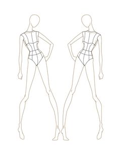 body outline great for fashion sketches costume design in 2018