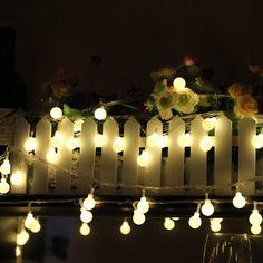 DulceCasa 10 M 100 LED Guirlande Lumi¨res Boule Givrée Lampe Cha ne