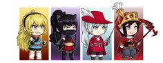 Tiny Team RWBY Jobs (Batch #1) by HenLP