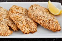 macaroon-crusted tilapia {almonds and coconut}...would be great over a salad