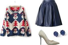 sweater and skirt outfit - Google Search