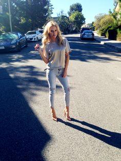 Top - Lanvin Jeans – IRO Shoes – Christian Louboutin Nude Pigalles