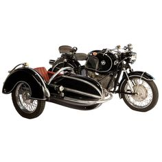 1958 BMW Motorcycle with Steib Sidecar | From a unique collection of antique and modern decorative objects at https://www.1stdibs.com/furniture/more-furniture-collectibles/decorative-objects/