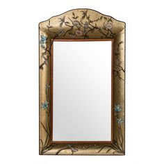 Blackbird Tole Mirror - Gold