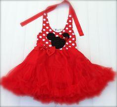 Girls Custom Boutique Dress Red Chiffon Dress by BabyThreadsByLiz