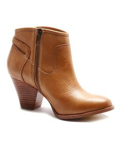 Another great find on #zulily! Tan Rebekah Leather Bootie #zulilyfinds