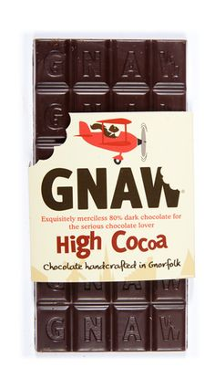 Something for the serious chocolate afficionado. High Cocoa Bar by Gnaw
