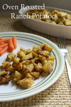 Oven Roasted Ranch Potatoes - a deliciously simple side dish