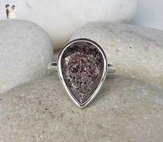 Alternative Engagement Ring- Lepidocrocite Wedding Bridal Ring- Unique Engagement Ring- Nontraditional Engagement Ring- Pear Shape Ring - Wedding and engagement rings (*Amazon Partner-Link)