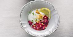 Limão em iogurte com marinada de romã e framboesas (130)