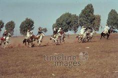 Fantasia in Temara, 1962 Czychowski/Timeline Images #1960 #60er #60s #Marokko #Morocco #Horses #Reiter #Reiten #Pferde #Reiterspiel #Reiterspiele