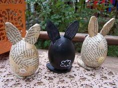Decoupaged Egg Bunnies