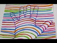 ▶ Cómo dibujar una mano en 3D - YouTube                                                                                                                                                                                 Más