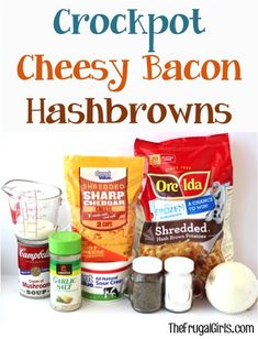 Crockpot Cheesy Bacon Hashbrowns Recipe! ~ from TheFrugalGirls.com ~ the PERFECT comfort food for your next Breakfast or Brunch, Dinner side, or Holiday meal!