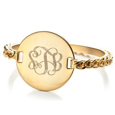 gold monogram bracelet-liking the classic look Monogram Bracelet, Monogram Jewelry, Monogram Rings, Initial Rings, Engraved Bracelet, Jewelry Shop, Jewelry Accessories, Jewelry Stores, The Bling Ring