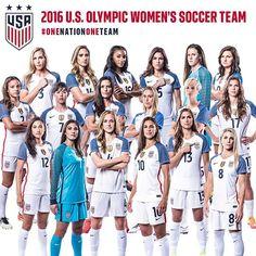 Introducing your 2016 U.S. Olympic Women's Soccer Team. #OneNationOneTeam #RoadToRio