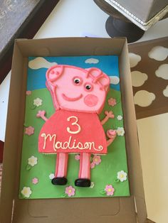 Peppa Pig Birthday cake from Sweet Matriarch Bakery in Georgetown, Kentucky.