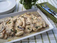 PASEN Y DEGUSTEN: FILETES DE POLLO EN SALSA CON CHAMPIÑONES. http://www.pinterest.com/ideamaribel/comida-salada/