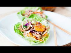 I've upgraded my favorite recipe into Asian Chicken Salad Lettuce Cups! That's right, your favorite salad to chew has now become a hand-held meal. Asian Chicken Salads, Healthy Chicken, Best Chicken Recipes, Chicken Salad Recipes, Easy Recipes, Easy Meal Prep, Quick Easy Meals, My Favorite Food, Favorite Recipes