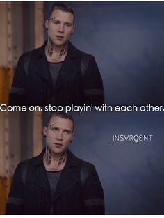 J x Eric ~ Divergent: Eric Divergent, Divergent Memes, Divergent Fandom, Tfios, Divergent Movie, Insurgent Quotes, Divergent Insurgent Allegiant, Eric Coulter, Augustus Waters