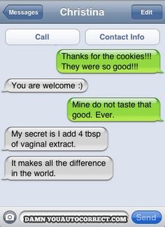 Vaginal Extract funny auto-correct texts - The 25 Funniest Autocorrects Of DYAC's First Year.supposed to be vanila Epic Texts, Funny Texts, Funny Jokes, Drunk Texts, Funny Minion, Funny Insults, 9gag Funny, Funny Food, Autocorrect Funny