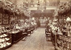 Perfumery Salon at Harrods department store, London, England - (vintage lady, edwardian era, photo) Vintage London, Victorian London, Old London, Vintage Shops, Victorian Ladies, Victorian Era, London History, British History, Asian History