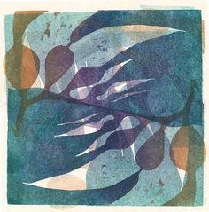 "blueberrymodern: "" Flow VI - Amie Roman - Printmaker - Artist in Nature """