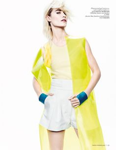 DELFINE BAFORT DONS VIBRANT HUES FOR VOGUE NETHERLANDS' MARCH ISSUE BY MARC DE GROOT