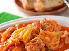 鶏もも肉とキャベツのトマトの煮込みの画像