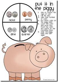 Put it in the Piggy** money partner game