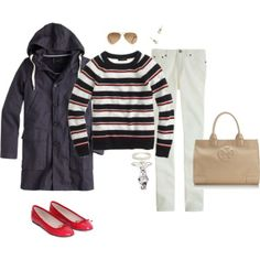 """Navy, white & red"" by maomi on Polyvore"