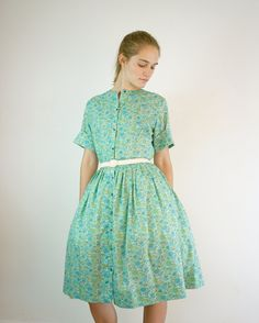 1950s Cotton Dress by Carol Brent