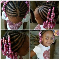 Adding beads are a nice accessory for braids and cornrows. It makes little girls feel pretty.
