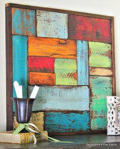 Salvaged Wood Art | Salvaged Wood Decorating Ideas