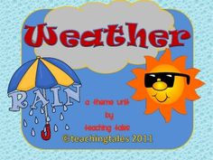 Your students will LOVE this Weather Unit! In it, they will become Junior Meteorologists as they study about the weather!  They even get a nifty li...