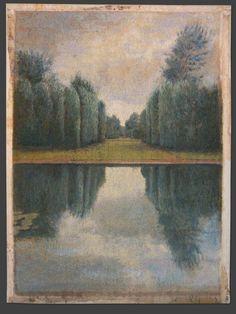 ~ Donald and Era Farnsworth - Reflection Pool (Blue), 2006, jacquard tapestry