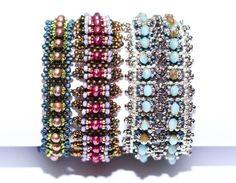 Trio of Bracelets - Three bracelet patterns  | RianaOlckers - Patterns on ArtFire