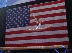 Kyla Ross.  American Flag.
