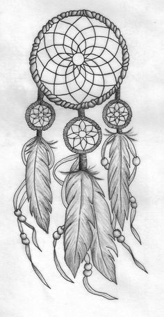 Pretty Dreamcatchers Drawing How To Draw A Dreamcatcher Step By Step