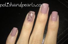 """""""Essie Lady Like & OPI Only Gold For Me"""" from one of my favorite nail polish blogs :)."""