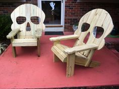 Adirondack skull chairs - Ben brown you owe me chairs without the skulls - pirates maybe?