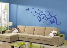 Symphony in Flight Peel and Stick Wall Decals
