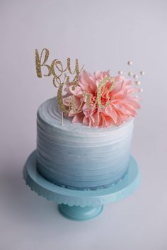 Gender Reveal Cake Topper -  Party Decor, Cake Decor, Photo Prop, Centrepiece, Boy, Girl by CutPartySupplies on Etsy Babyshower, Diy Cake, Let Them Eat Cake, Gender Reveal, Baby Boy Shower, Photo Props, Cake Toppers, Party Supplies, Boy Or Girl