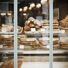 window full of pastries.  beautiful.