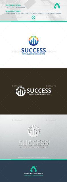 Success  Logo Design Template Vector #logotype Download it here: http://graphicriver.net/item/success-logo/10053758?s_rank=1739?ref=nexion