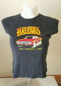 The Dukes of Hazzard Women's T Shirt The General Lee Size XL 1x Black | eBay